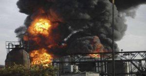 أضرار مادية جراء قصف محطة ومعملين للغاز الطبيعي في حمص